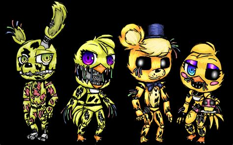Anime Chibi Yellow Fnaf Chibi Yellow And Withered By Sawah15378 On Deviantart