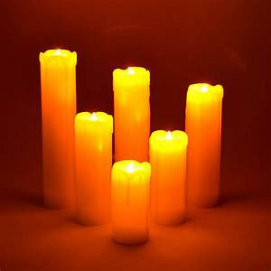 Led Kerzen Echtwachs : 6 teiliges led echtwachs kerzen set wachs kerze flackerlicht flammenlos candle ebay ~ Eleganceandgraceweddings.com Haus und Dekorationen