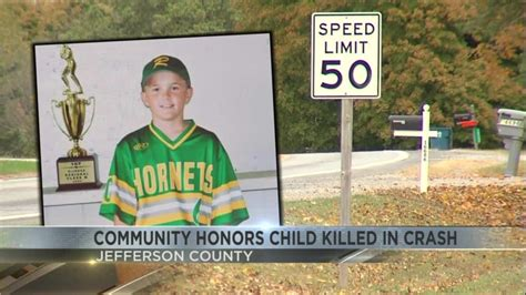 Community honors child after fatal accident