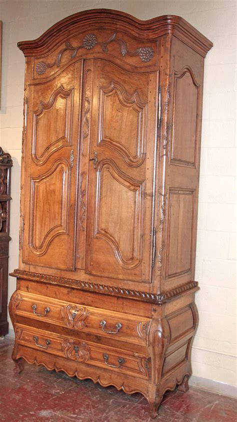 mid 18th century french louis xv walnut armoire