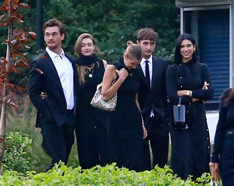 Tyler Cameron Supports Gigi Hadid at Her Grandmother's ...