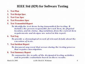 pretty test procedure specification template pictures With ieee 829 test strategy template
