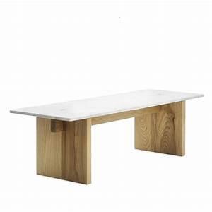 Table Plateau Bois : solid table basse normann copenhagen en bois et plateau en marbre italien sediarreda ~ Teatrodelosmanantiales.com Idées de Décoration