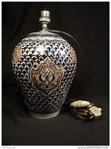 Pied De Lampe Ceramique : pied de lampe fa ence tunisienne tunisie mouche chemla tunis tunisian c ramique ceramic juif ~ Teatrodelosmanantiales.com Idées de Décoration