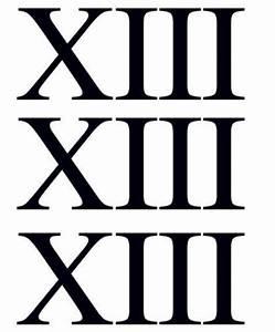 10 En Chiffre Romain : chiffre treize xiii romain tattooforaweek tatouages temporaires plus grande boutique ~ Melissatoandfro.com Idées de Décoration