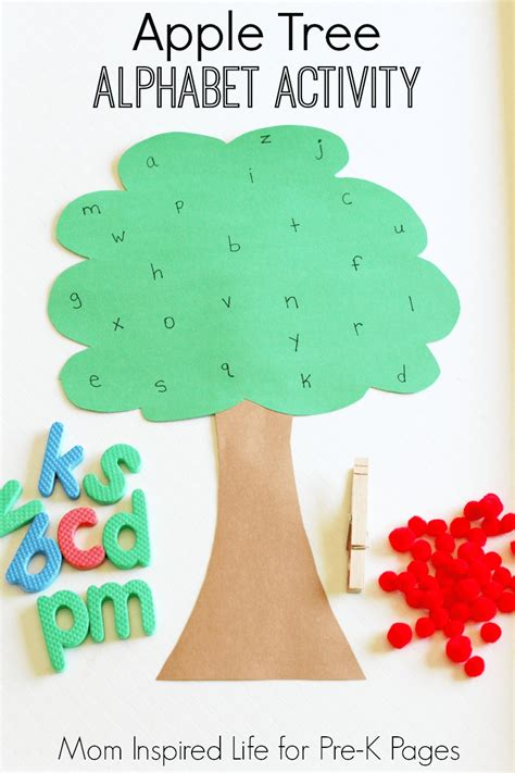preschool alphabet game apple tree alphabet 985