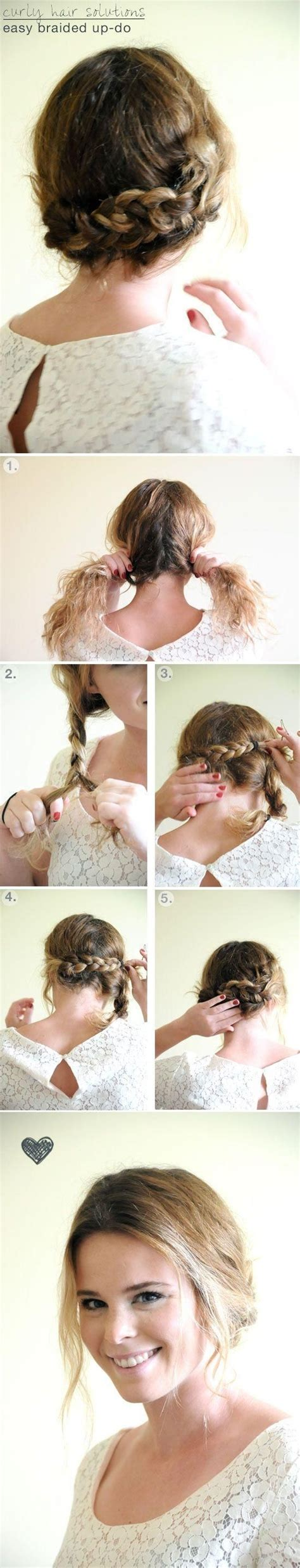 simple braided updo hairstyle tutorial updos for medium