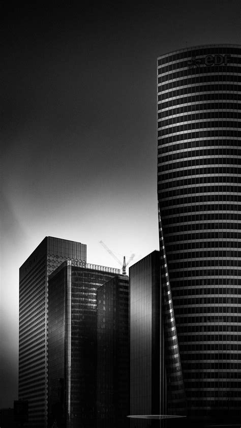 black  white city hd android wallpaper