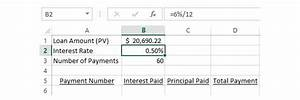 Calculating Interest Payments How To Calculate The Interest Principal Portions Of A