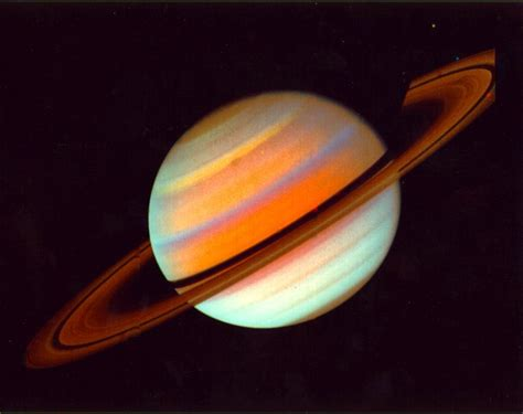 saturn colors through the universe at the speed of light
