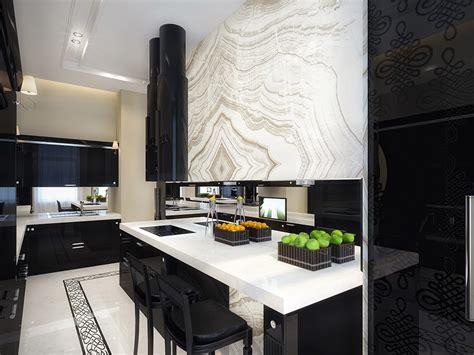 white  black kitchen interior design ideas
