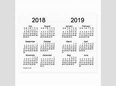 Postal 20182019 calendario del año escolar mini por Janz Zazzlees
