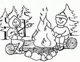 Coloring Campfire Pages Popular sketch template