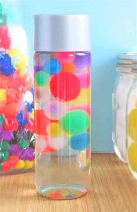 sensory bottles for preschool floating pom poms sensory bottle calming sensory bottles 706