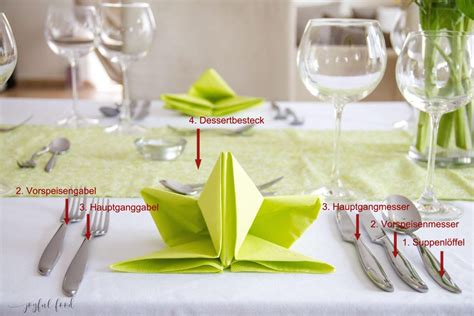 richtig tisch decken den tisch richtig decken tutorial joyful food