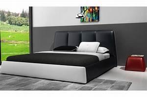 Lit En Cuir : lit design en cuir italien de luxe verdi noir et blanc mobilier priv ~ Teatrodelosmanantiales.com Idées de Décoration