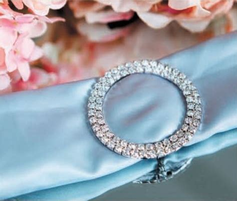 designer silver rhinestone napkin ring w clasp circle bejeweled sale now from