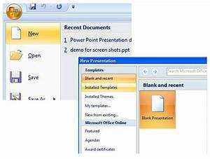 Access Templates 2007 How To Create A New Powerpoint 2007 Presentation From A