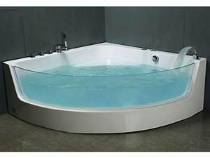 Grande Baignoire D Angle : baignoire baln o d 39 angle vitr e palama 2 places 150 ~ Edinachiropracticcenter.com Idées de Décoration