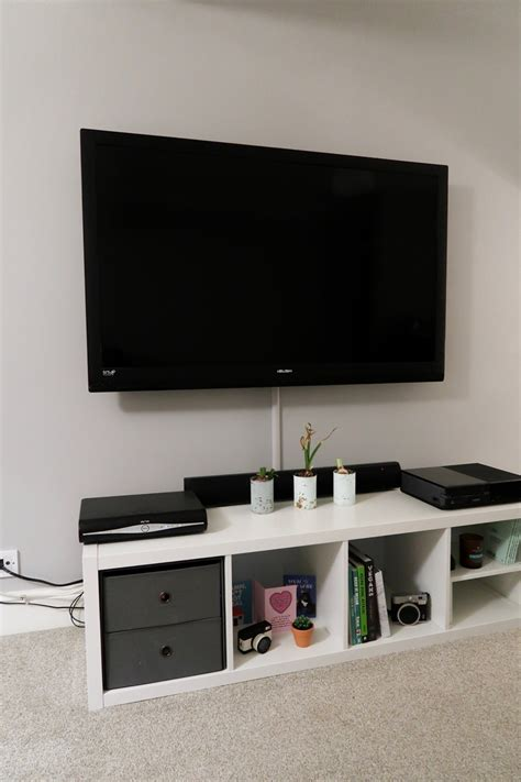 Ikea Kallax Tv by How We Built And Styled Our Ikea Kallax Tv Unit An Ikea Hack