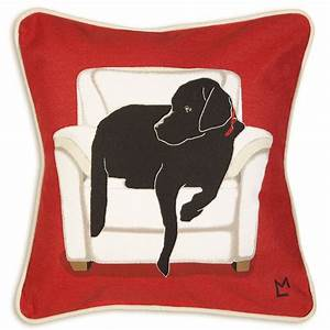 dog lover gifts chandler 4corners black lab canvas for With canvas dog pillow