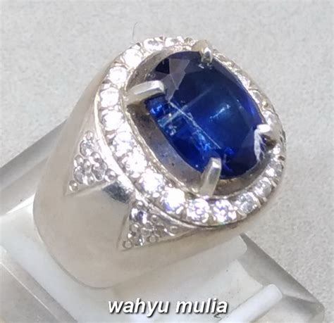 batu cincin permata blue safir australi kyanite asli kode