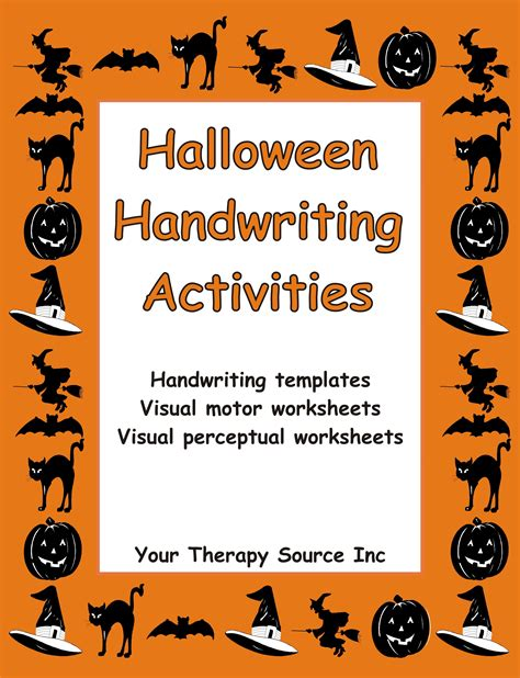 halloween handwriting activities  images