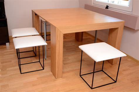 wood dining table with upholstered chairs varnished wooden dining table with backless white