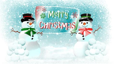 snowmen snowball fight merry christmas stock video footage synthetick