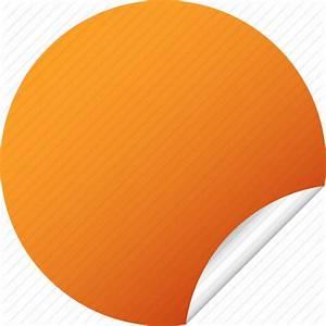 blank circle label orange round sticker icon icon With blank circle stickers