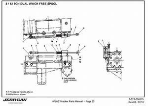 Jerr Dan 8  12 Ton Dual Winch Free Spool