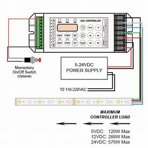 4 Channel Led Controller With Rf Remote  12  24vdc