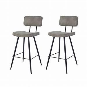 Chaise De Bar Grise : chaise de bar texas grise lot de 2 profitez de nos ~ Voncanada.com Idées de Décoration