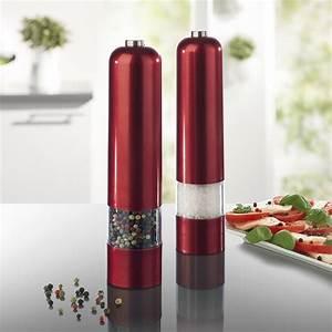 Salz Und Pfeffermühlen : design salz und pfefferm hlen 2er set rubinrot ebay ~ Buech-reservation.com Haus und Dekorationen