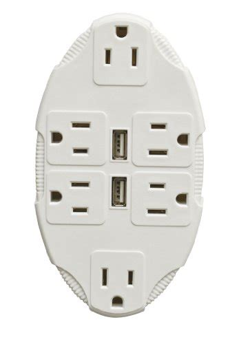ls with usb ports and outlets jobar outlet multiplier with usb ports by ideaworks jb7059