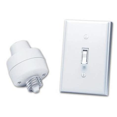 wireless light switch home depot heath zenith l socket and switch kit bl 6138 wh the