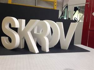 foam letter signs 3d building letters and logos With metal faced foam letters