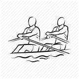 Rowing Canoe Drawing Kayak Icon Sport Olympics Getdrawings Iconfinder sketch template