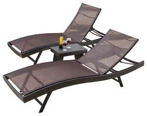Lounge Chair Set by Eliana Outdoor 3 Piece Lounge Chair Set Contemporary