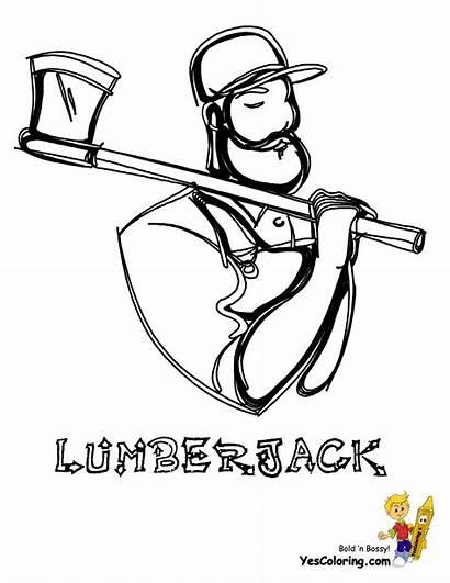 Coloring Pages Construction Lumberjack Paul Bunyan Yescoloring