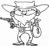 Coloring Cowboy Pages Western Wecoloringpage sketch template