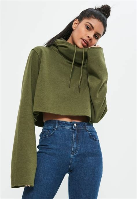 On a Cropped Hoodie - Unique Ways to Wear Bell Sleeves - Livingly