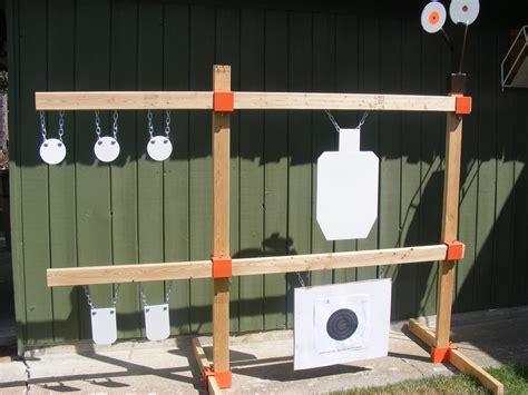 tommygun pistol rack kit rifle shooting target ar gong