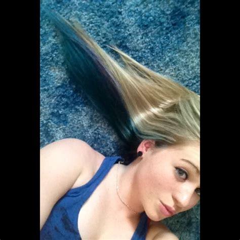 Best 25 Blue Hair Underneath Ideas On Pinterest