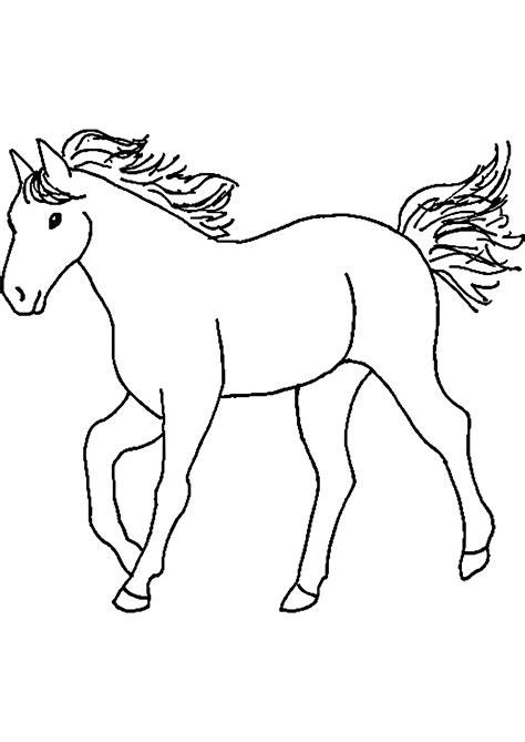 disegni da colorare semplici cavallo disegno per bambini facile con lusso disegni da