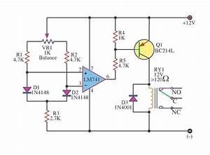 Dfferential Temperature Relay Switch Circuit