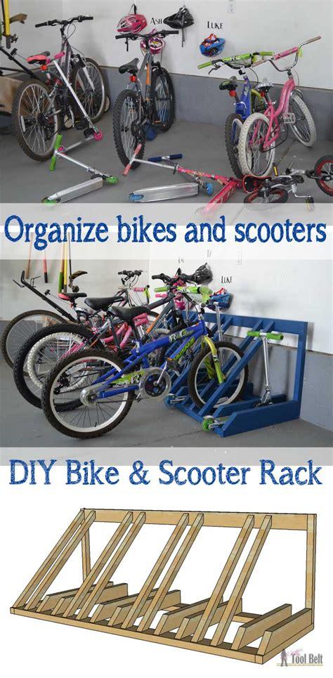 Diy Bike And Scooter Rack  Her Tool Belt