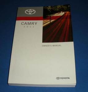 2011 Toyota Camry Owners Manual Book Guide