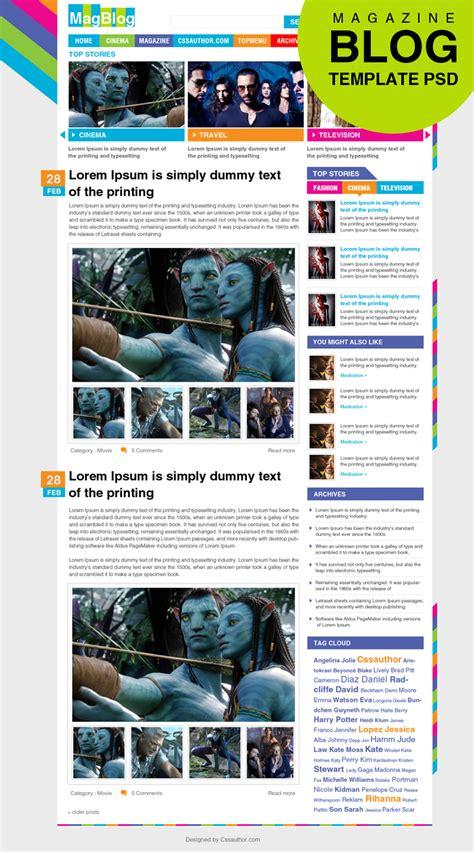 free design magazines premium magazine blog template psd for free download freebie no 43