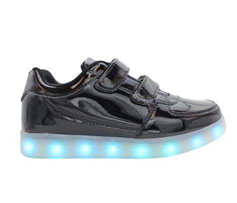 kids sneakers with lights galaxy led shoes light up usb charging low top straps kids